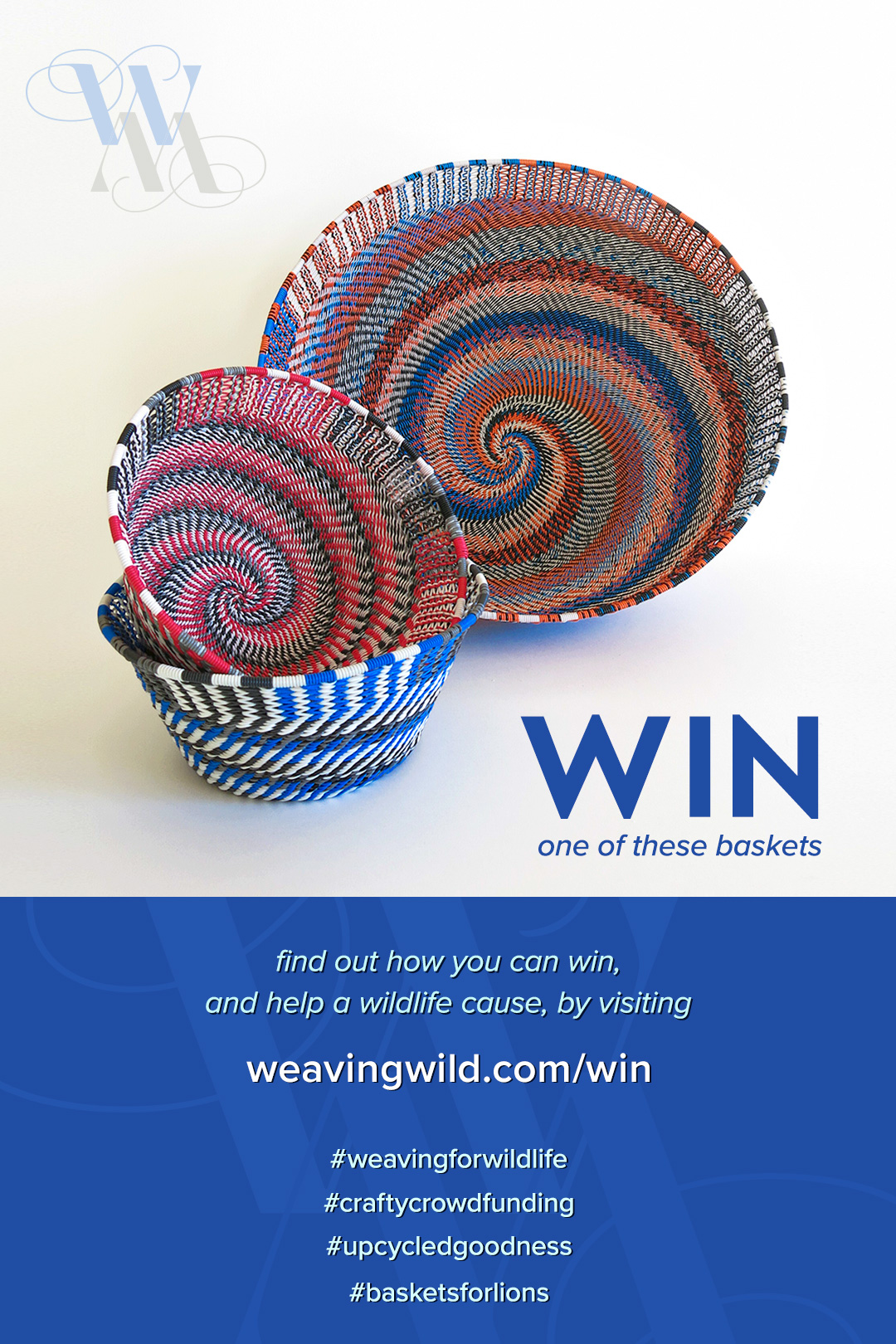Pin this image. Find out how you can win a basket while helping a wildlife cause.